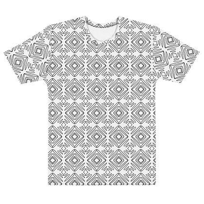 Scribble line Diamonds WHITE - Men's Silky smooth T-shirt