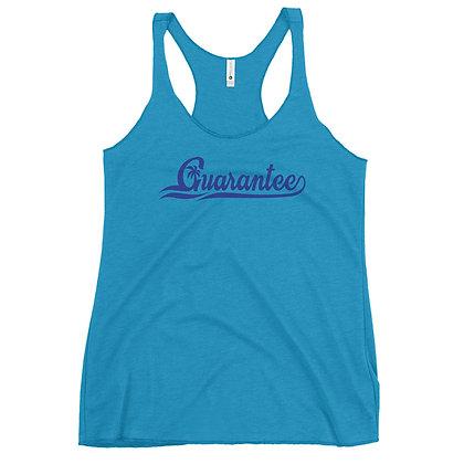 Guarantee Baseball Style Blue - Women's Racerback Tank