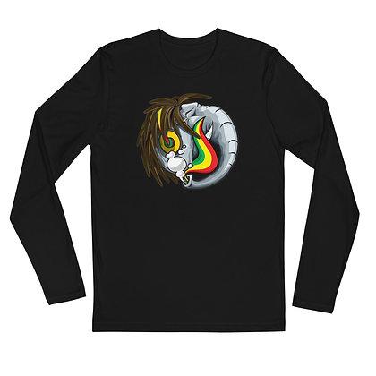 Reggae Elephant - Men's super soft long sleeve fitted
