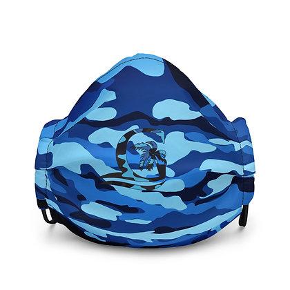 BLUE CAMO - Premium face mask