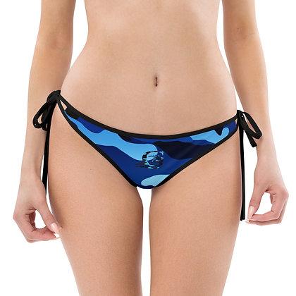 Camouflage Blue/Red Bikini Bottom