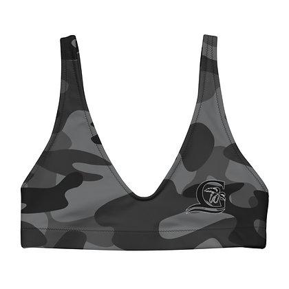 Grey Camo - Women's padded bikini top
