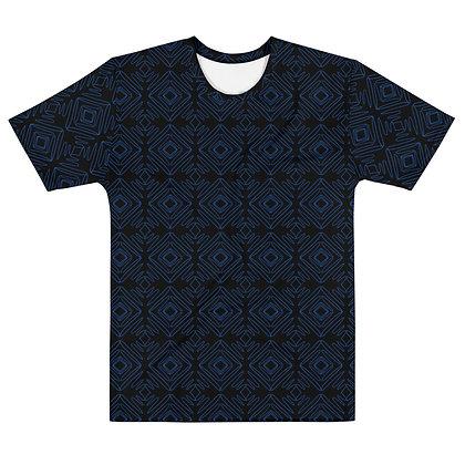 Scribble line Diamonds BLUE - Men's silky smooth Dress shirt