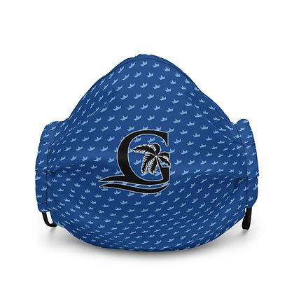 BLUE - Black G Blue Crown - Premium face mask