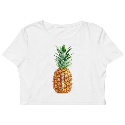 Pineapple - Women's Organic Crop Top