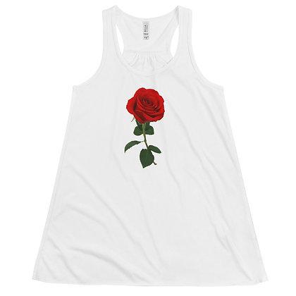 Women's Flowy Racerback Tank - Rose