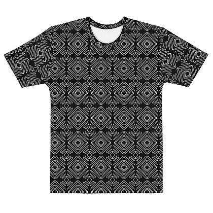Scribble line Diamonds BLACK - Men's Silky smooth T-shirt