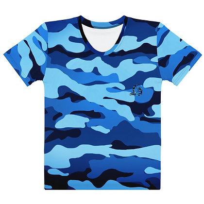 Blue Camo - Women's Silky smooth T-shirt