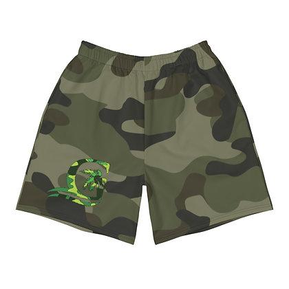 Green Camo - Men's Athletic Shorts