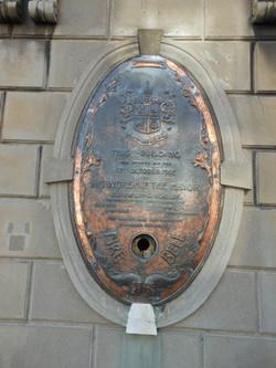 Effingham Street Copper Plaque