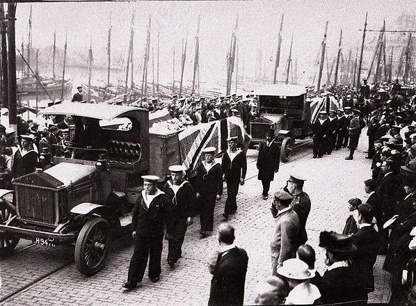Military Funeral processing along Milita