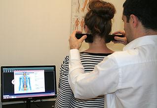examen d'évaluation de l'activité musculaire du dos du patient, Centre chiropratique de Lille, chiropracteur Lille