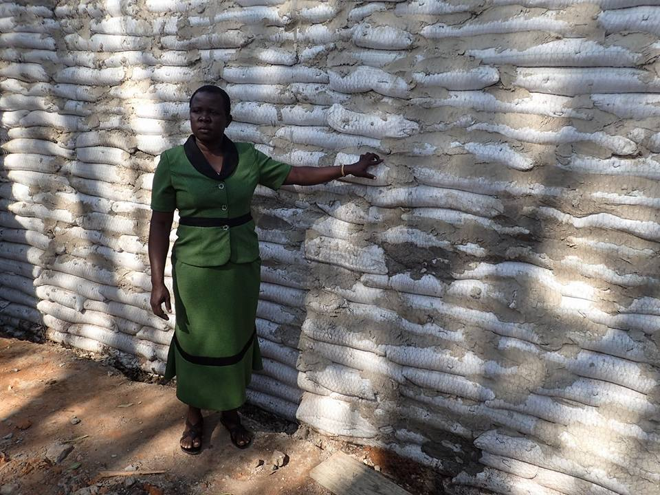 Soil Filled Bags to Form Walls