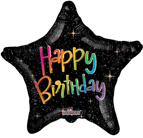 Birthday Multicolour star (18 inch)