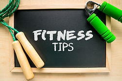Fitness and health concept (fitness tips