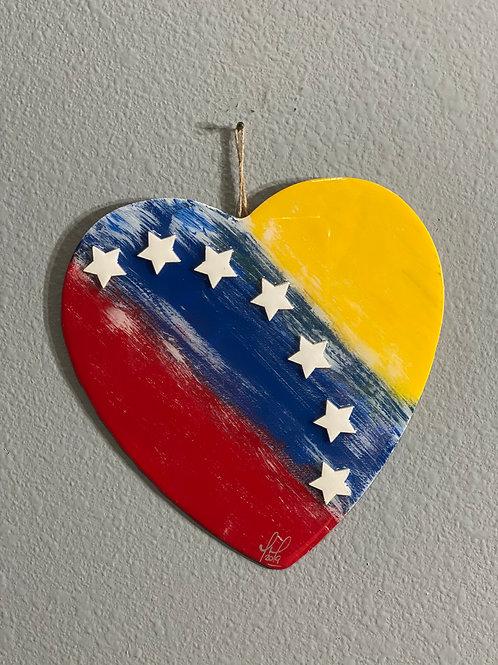 VENEZUELAN FLAG HEART