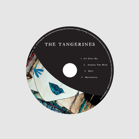 The Tangerines EP CD inside right