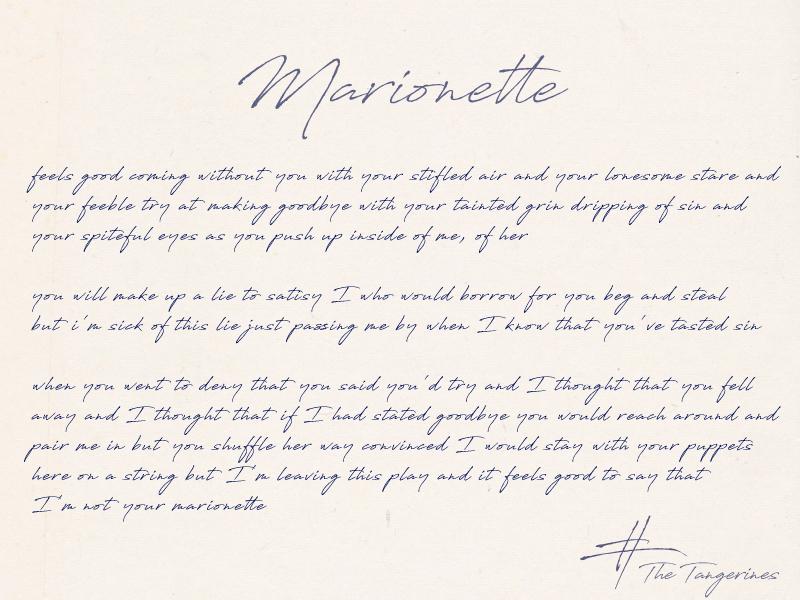 Marionette_Lyrics