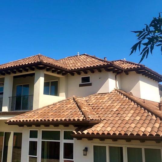 "US Tile Clay Roof ""Carmel Blend"""