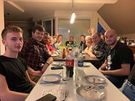 Repas de fin d'année par équipe