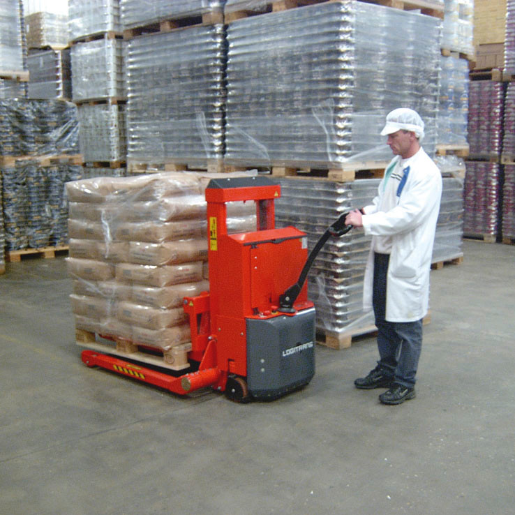 Full Powered stacker in a warehouse