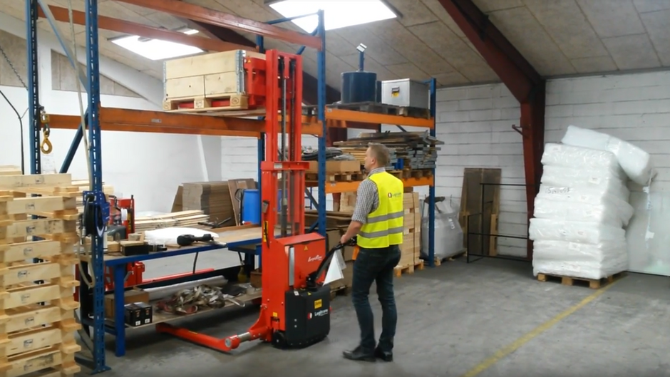 Thinking about a Fork Lift? Why not a Stacker sold by Work Positioning Products
