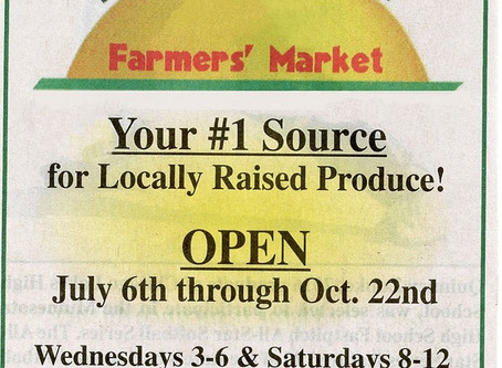 We'll be at the Lindstrom Farmers Market on Wednesday, August 14!