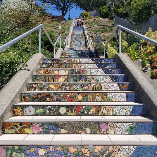 San Francisco 16th Avenue Tiled Steps