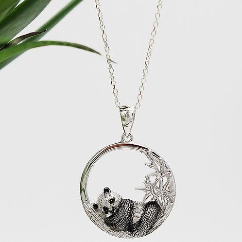 Sterling Silver Panda Necklace