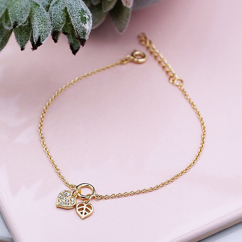 Yellow Gold vermeil Leaf Bracelet