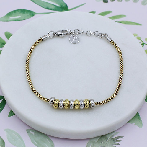 Sterling silver and 18ct Yellow Gold Vermeil Sweetie Bracelet