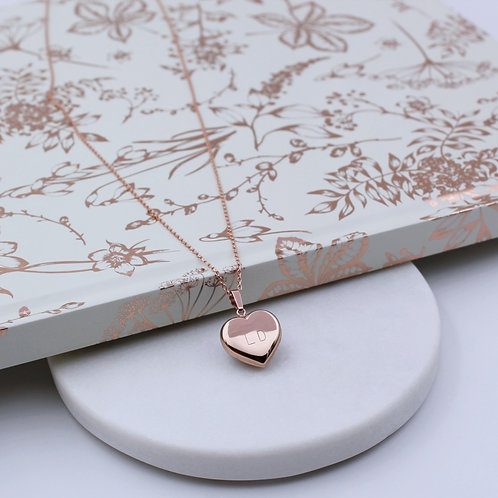 18ct Rose Gold vermeil Heart Necklace