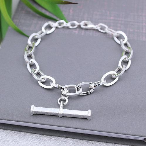 Sterling Silver T-Bar Bracelet