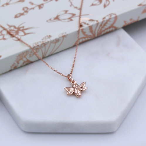 18ct Rose Gold vermeil Bumble Bee Necklace