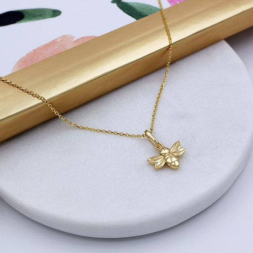 18ct Yellow Gold vermeil Bumble Bee Necklace