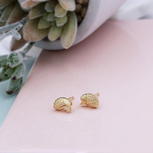 Yellow Gold Vermeil Hedgehog Stud Earrings