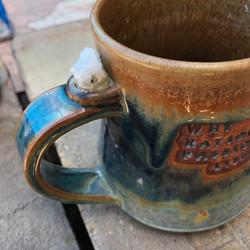 Mug commission - quartz embedded as
