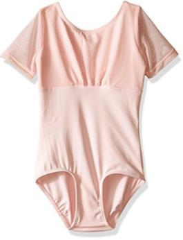 Ballet Pink Sheer Sleeve Leotard