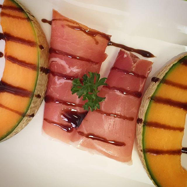 Melon et jambon cru