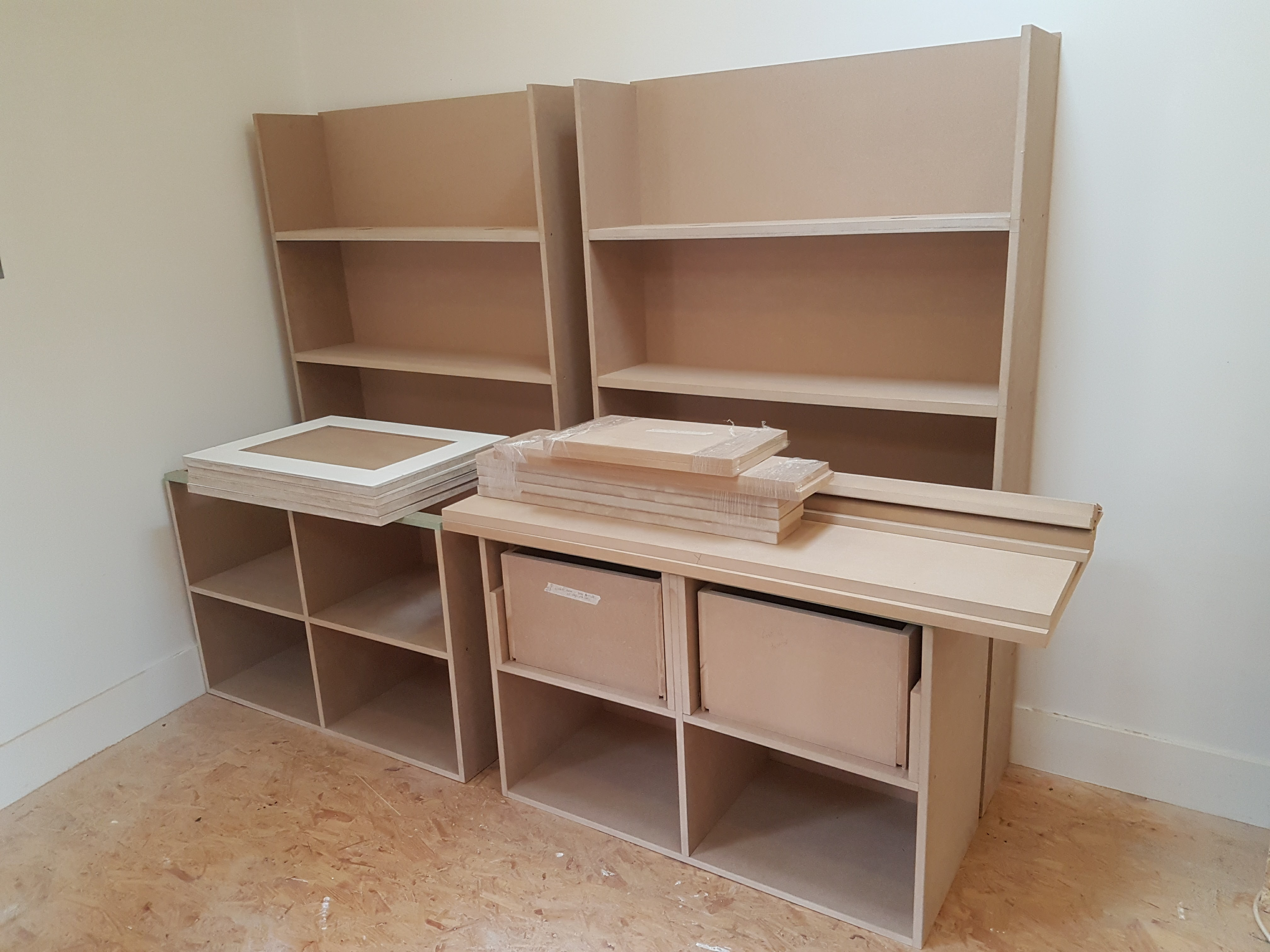 SPRAY FINISHED ALCOVE CABINETS 2