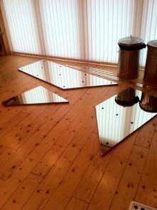 Under stairs mirrored storage cupboard
