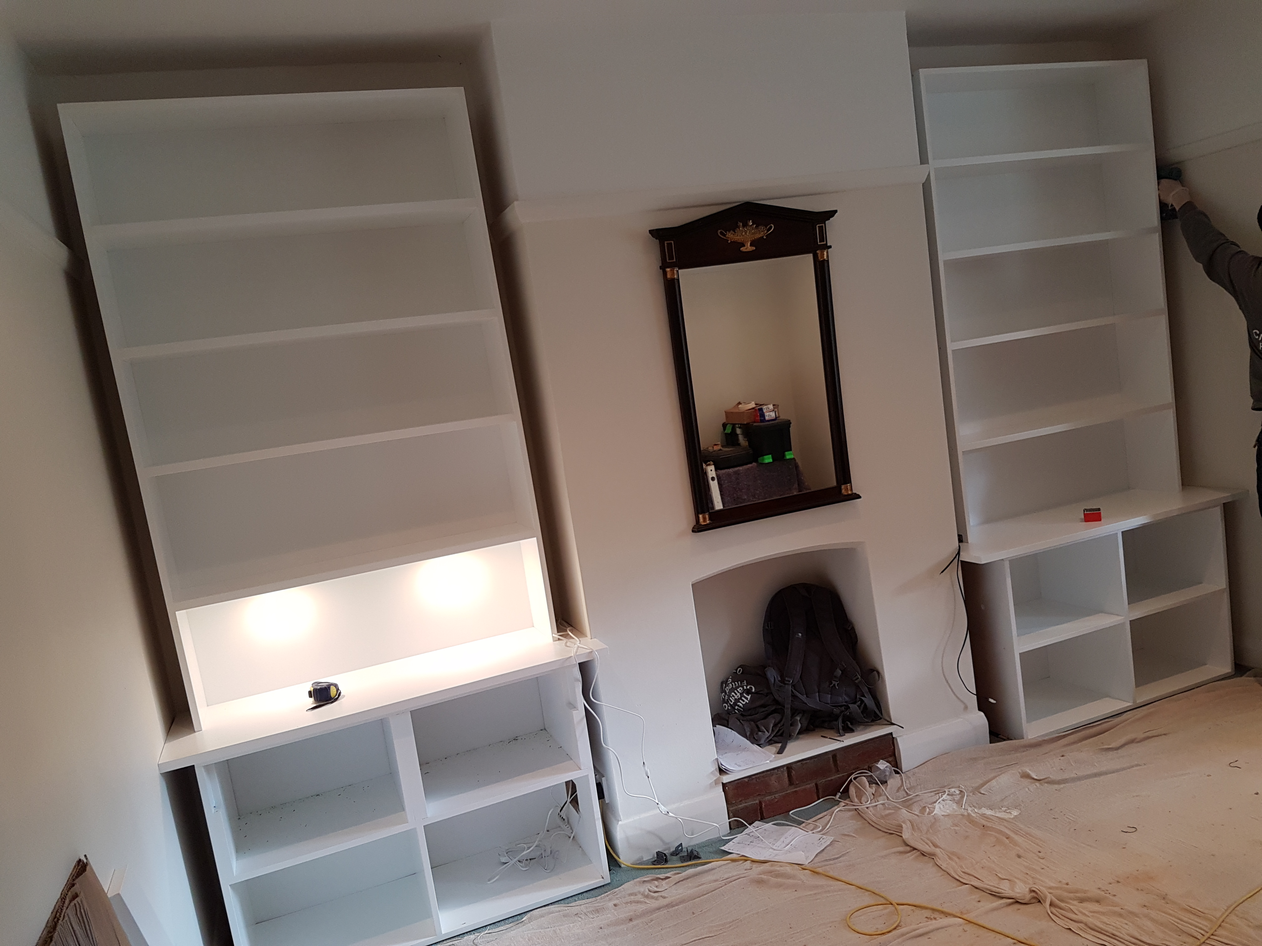 SPRAY FINISHED ALCOVE CABINETS 6