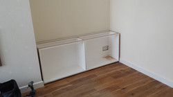 HAND PAINTED ALCOVE CABINET 4