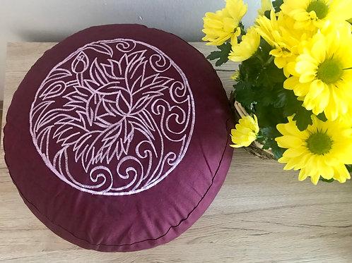 Meditační polštář vínový