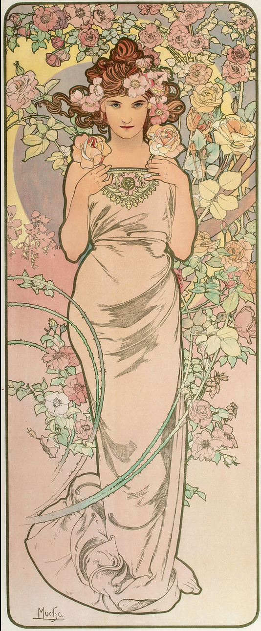 Affiche Mucha 1898 The Rose