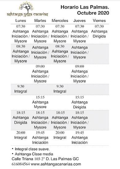 Horario Octubre Ashtanga Yoga Canarias.j