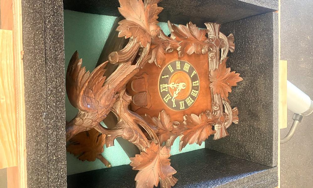 transport crate luxury delicate antique clock