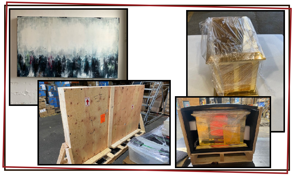 cw crates shipping artwork valuables