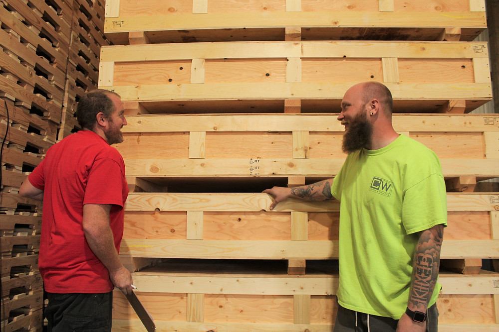 cw crates pallets rewarding labor job spokane