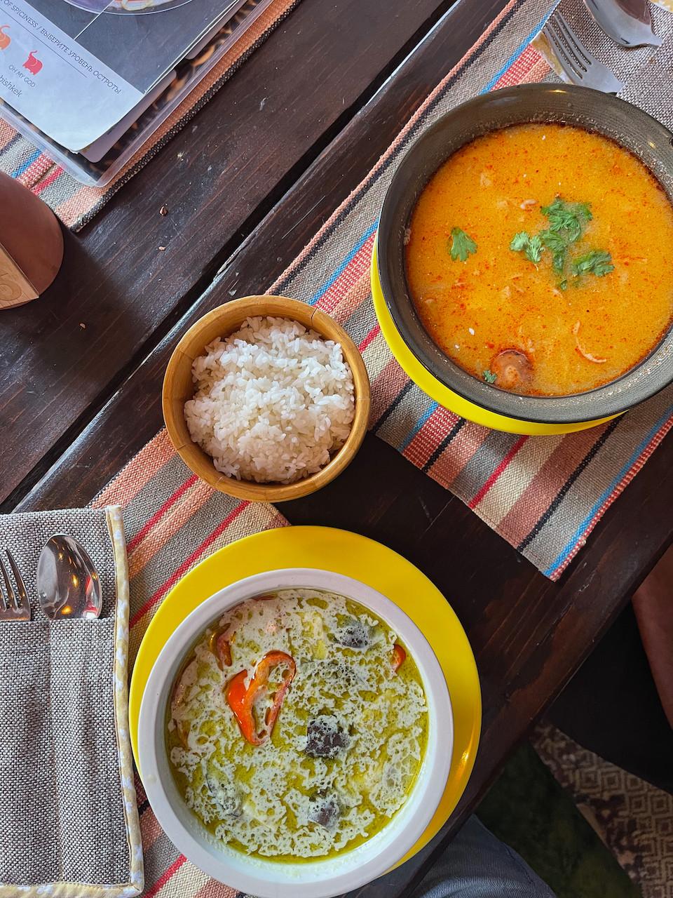 Baan Baan Thai Bishkek Soup Vegan Food Kyrgyz
